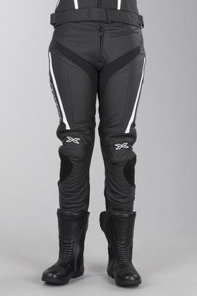 Spodnie skórzane IXS Rouven Czarny-Biały Kobieta