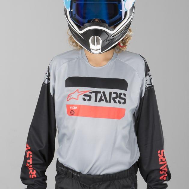 Alpinestars Racer Tactical Children s MX Clothing Kit Black-Grey-Red Fluo 1e0d36efd