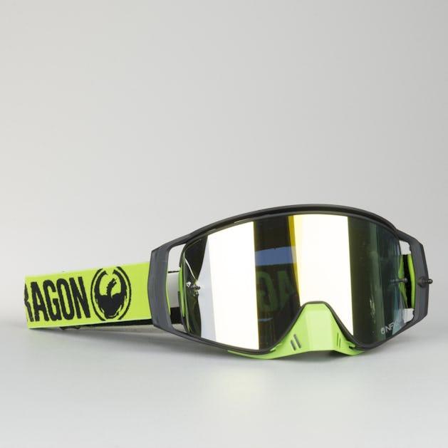 Dragon NFX2 Break Tear Offs + Lens Shield Motocross Goggles + Pack 10 Green