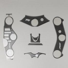 Naklejka na koronę widelca OneDesign Carbon Yamaha
