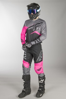 Fly F-16 MX Clothes Neon Pink-Black-Grey