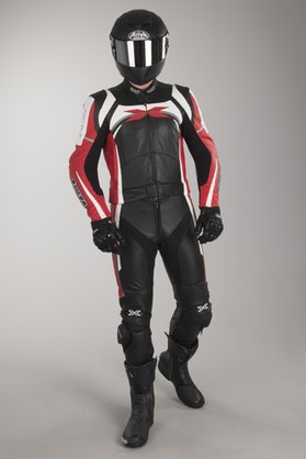 IXS Camaro 2-Piece Leathers Black-Red-White