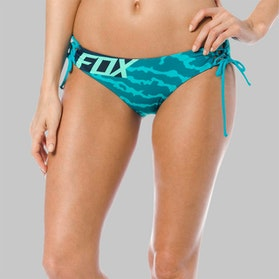 Dół Bikini Fox Firing Lace Up Side Tie Turkusowy