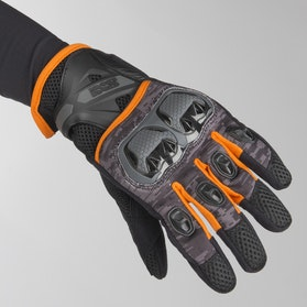 IXS Tour LT Montevideo Air Gloves Black-Silver-Orange