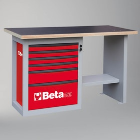 Beta Tools Short Model Workbench with 6 Drawers