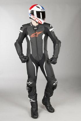 Kožená Kombinéza Alpinestars GP Plus Venom Černá-Červená-Fluo Bílá
