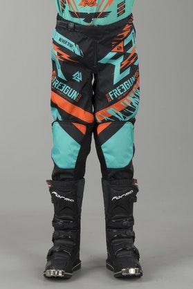 Freegun Trooper Youth MX Trouser Mint & Orange