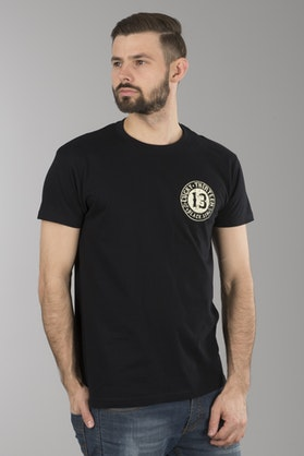 T-Shirt Lucky 13 Black Sin Czarny