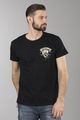 T-Shirt Lucky 13 Evil Skull Czarny