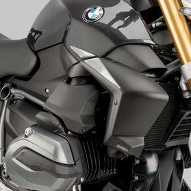 Osłony Boczne Chłodnicy Puig BMW Czarny Mat
