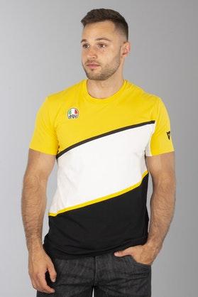 T-Shirt Dainese King-K Żółto-Czarny