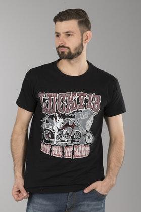 T-Shirt Lucky 13 Misty Czarny