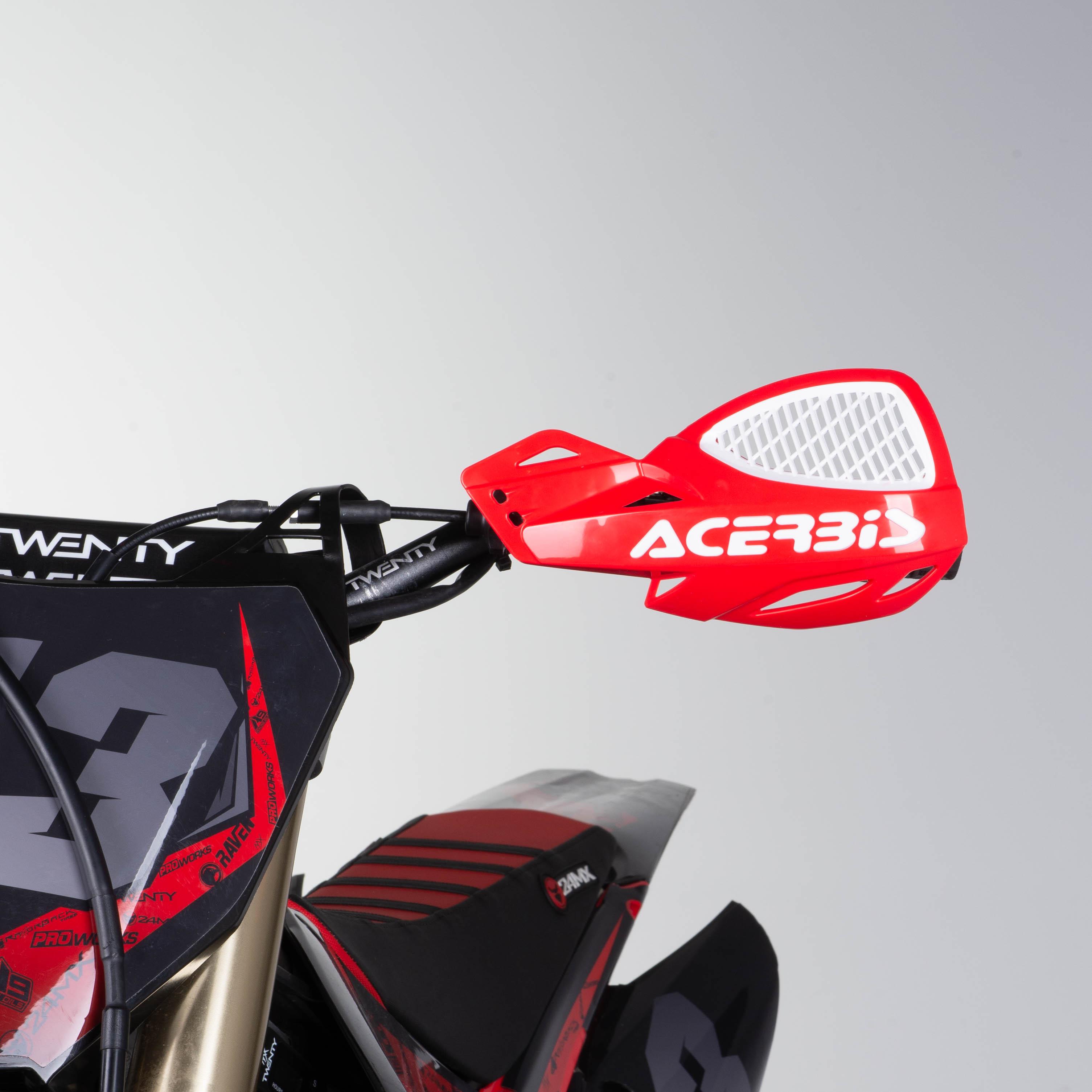 RED//WHITE Acerbis Uniko MX Vented Handguards