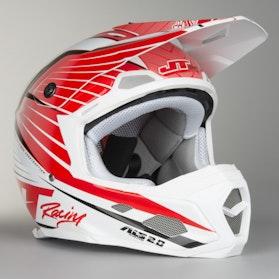JT Racing ALS 2.0 Subframe Motocross Helmet Red-White-Black