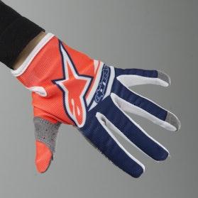 Alpinestars Youth Radar Flight Gloves Fluorescent Orange-Blue-White