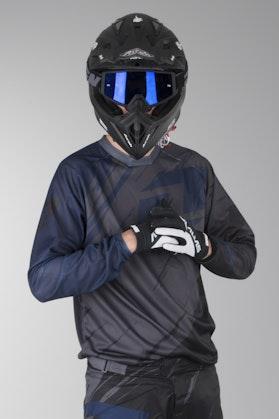 OneIndustries Vapor Lite Side Swipe Motocross Jersey Gray-Black