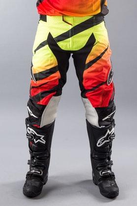 Spodnie Alpinestars Techstar Venom czerwono-Flou-czarne