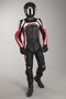 IXS Camaro Black-Red-White Long 2-Piece Leather Suit