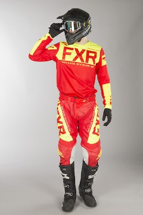FXR Helium Air MX Clothes Navy Red-HiVis
