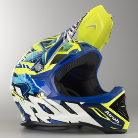 Airoh Archer Bump Kid's MX Helmet Blue Gloss