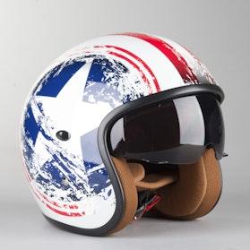 RXA Bronx Graphic Open Helmet Blue