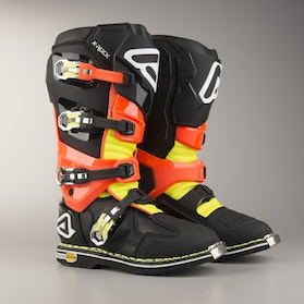 Acerbis X-Rock Boots Black-Fluorescent Orange