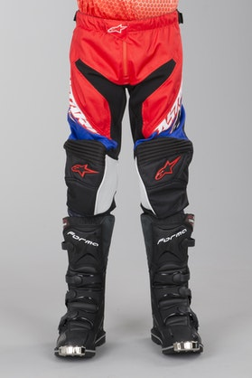 Alpinestars Racer Supermatic Motocross Trousers Youth Red-Blue-White