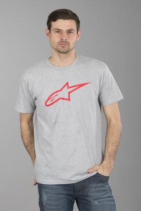 T-Shirt Alpinestars Ageless Classic Szaro-Czerwony