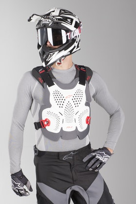 Alpinestars A-1 Max Chest Protector White-Antracit-Red