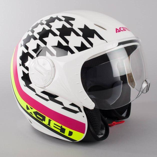 Acerbis X Jet On Bike Helmet White Black Now 39 Savings Xlmoto Eu