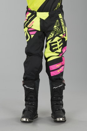 Freegun Nerve Youth Cross-Trousers Neon Yellow-Pink
