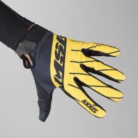 MX rukavice MSR M17 Axxis Černá-Žlutá-Šedá