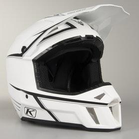 Klim F3 ECE Pinstripes Motocross Helmet White-Black