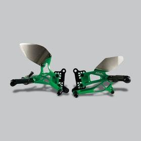 Zestaw Dźwigni Nożnych i Podnóżków Valter Moto Typ 2.5 Zieleń Kawasaki