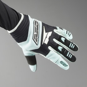 AXO Padlock MX Gloves Aqua & Black