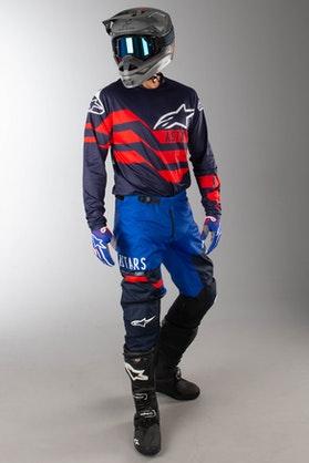MX Souprava Alpinestars Racer Flagship Modrá-Červená