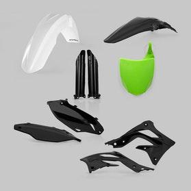 Komplet Plastikkit Acerbis Kawasaki, Grøn/Hvid