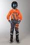 Komplet Cross Alpinestars Racer Braap Dziecięcy Antracytowo-Fluorescencyjno Pomarańczowy