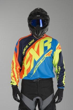Bluza Cross FXR Clutch Prime Niebiesko-HiVis-Pomarańczowa