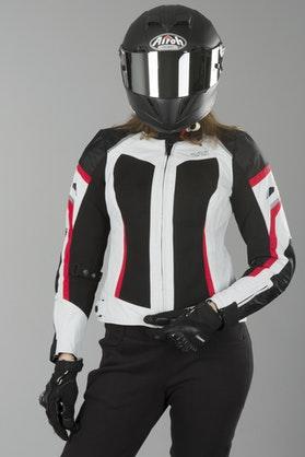 IXS Andorra Women's Jacket Grey-Black-Red