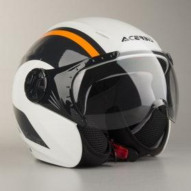 Kask Acrebis K-Jet Biało-Pomarańczowy