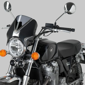 Owiewka Puig Retrovision Honda Czarna-Przydymiona