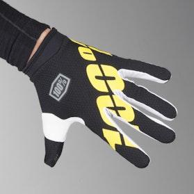 Rękawice Cross 100% iTrack Czarno-Żółte