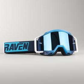Gogle Cross Raven Sniper Blue Echo Niebieskie Lustrzane