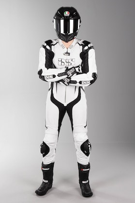 IXS Sport RS-1000 Leather Suit White-Black