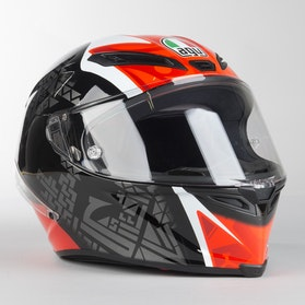 Kask Motocyklowy AGV CORSA R Czarno-Czerwono-Zielony