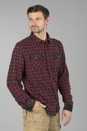Brandit Checkshirt Duncan Shirt - Brown-Red
