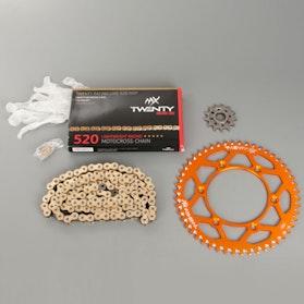 MX Twenty Racing 520 MXP Chain and Sprocket Kit Orange