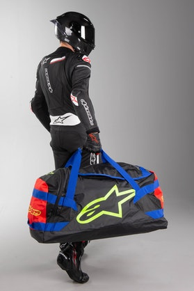 Alpinestars Goanna Dufflebag Black-Blue-Red-FlouYellow