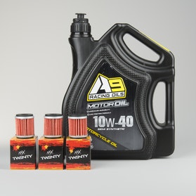 Semisyntetisk Motorolie A9 Racing 4L + 3-Pak Oliefilter Twenty
